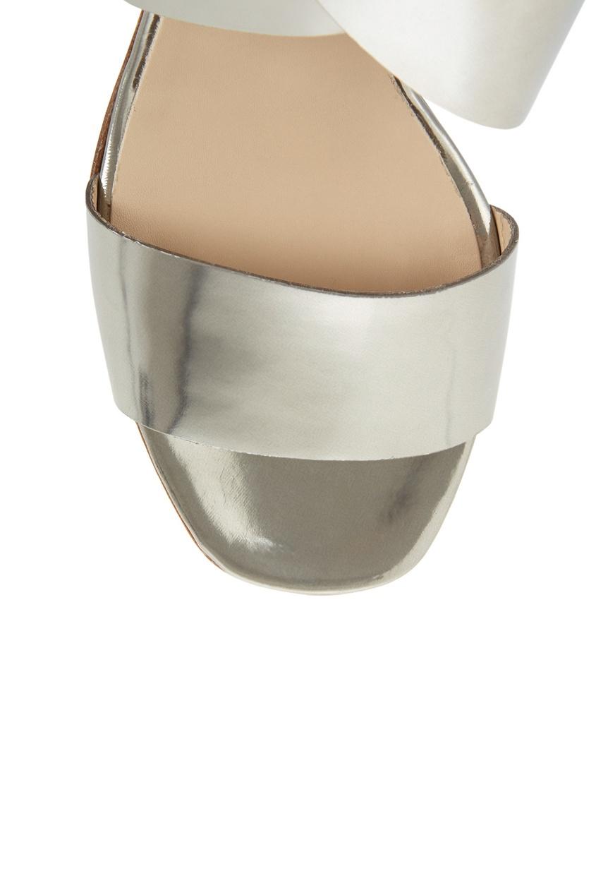 Босоножки из металлизированной кожи от AIZEL