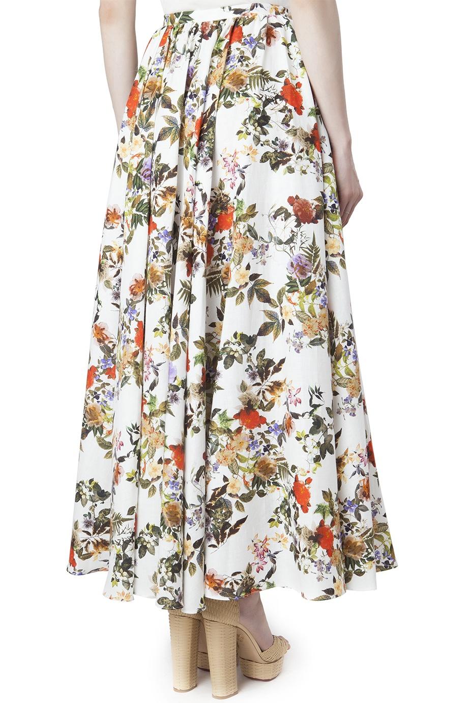 Купить юбку из хлопка льна